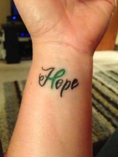 Traumatic Brain Injury Awareness Ribbon #tattoo #hope #supporting my daughter
