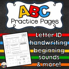 Alphabet PracticeThis is a set of 26 alphabet practice pages that can be used to help your kiddos practice learning and identifying their ABCs!  It also will help students begin to recognize words and pictures that begin with each letter!Download the letter Aa page in the preview!Here's what kids will do on each page:Practice writing letters (in letter shape boxes)Identify words that begin with the focus letter and write the words*Draw one thing that starts with the focus letter*Circle…
