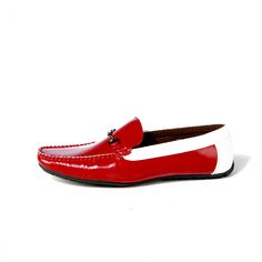 Buy Red Driving shoe with contrast@INR1639/- #DrivingShoes #Moccasins #MenShoes #RedShoes  www.prideswalk.com