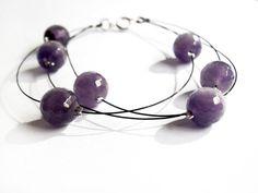 Drops of purple Bracelet amethyst by clode83 on Etsy, €12.00