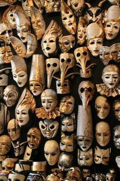 Masks like this are everywhere in Venice and they are all stunning! Was so hard to choose which one to take home!