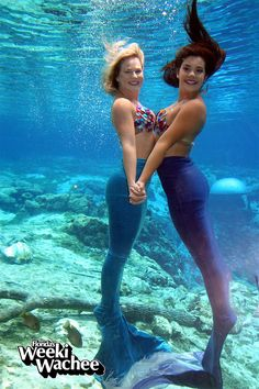 Happy Friday from #Mermaids Kristy & Andrea!! We hope to see you at the park. Have a great weekend! #TGIF #LoveFL #LoveWeeki
