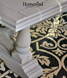 DIY The RH Coffee Table Look www.homeroad.net -chalk paint,water spritz then dry brush to blend in 2nd cp color