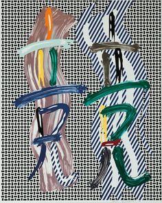 ROY LICHTENSTEIN - BRUSHSTROKE CONTEST - KUNZT.GALLERY http://www.widewalls.ch/artwork/roy-lichtenstein/brushstroke-contest/  #Print #Lithograph