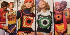 Loved these crocheted vests in junior high. :)
