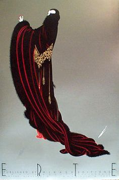 Soiree by Erté  (1892-1990, Russia)