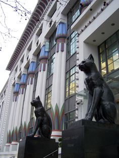 Camden, London, UK - Art Deco -  It closed down years back but now used for offices and a gym. Built in the 1920s, The Carreras Cigarette Factory is noted as a striking example of early 20th Century Egyptian Revival architecture. The building was erected in 1926-28 by the Carreras Tobacco Company.