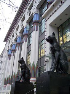 Art déco egipcio del renacimiento Carreras fábrica de cigarrillos (1926-1928) Camden, Londres, Inglaterra