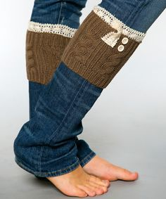 Look at this White Plum Mocha Lace Boot Cuffs on #zulily today!