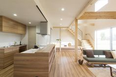 LDK Japanese Interior Design, Interior Design Kitchen, Muji Home, Japanese Style House, House Inside, Home Hacks, Home And Living, Home Kitchens, Interior Architecture