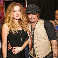 Amber Heard & Johnny Depp at Stella McCartney's Pre-Fall 2016 presentation