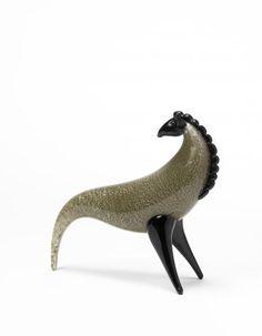 """Toni Zuccheri ( 1937) """"Cavallo"""", Scultura in vetro sommerso incolore e verde, con[...], mis en vente lors de la vente """"Decorative Arts of the 20th Century and Design"""" à Il Ponte Casa d'Aste   Auction.fr"""