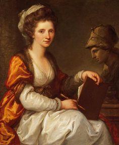 Angelika Kauffmann   Selbstbildnis mit Büste der Minerva, 1780; Bündner Kunstmuseum Chur