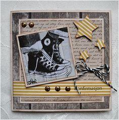 Konfirmantkort til gutta boys:) Birthday Cards For Men, Handmade Birthday Cards, Man Birthday, Greeting Cards Handmade, Baby Boy Scrapbook, Scrapbook Cards, Boy Cards, Kids Cards, Confirmation Cards