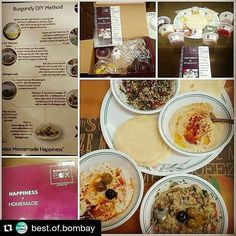 We love the experience @best.of.bombay shared! #BestofBombay #foodie #burgundybox #mezzeplatter #hummus #lebnah #yummy #musttry #mealkit #mumbai #delicious #chef #foodlovers