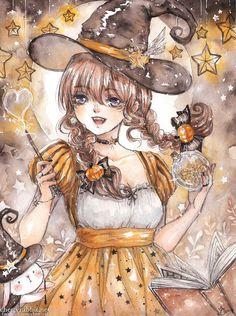 Star Witch [ Speedpaint Video ] by cherriuki.deviantart.com on @DeviantArt