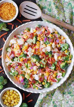 best Ranch salad, Ranch Broccoli Bacon Salad, easy broccoli salad best Ranch salad, Ranch Broccoli Bacon Salad, easy broccoli salad Easy Bacon Ranch BroccoliBacon Ranch Pasta Salad –Bacon Ranch Pasta Salad i Best Broccoli Salad Recipe, Easy Broccoli Salad, Vegetable Salad Recipes, Best Salad Recipes, Salad Dressing Recipes, Broccoli Cauliflower, Yummy Recipes, Diet Recipes, Salad Dishes