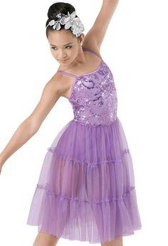 Weissman™   Floral Sequin Dress & Pettiskirt