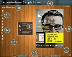 Make your digital magazine look like your own - customization options area available