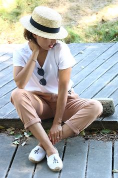 I love Fita Métrica: Boater Straw Hat