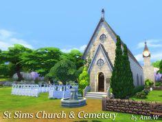 St Sims Church & Cemetery NO CC by annwang923 at TSR via Sims 4 Updates