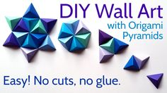 DIY Paper Wall Art with Origami Pyramid Pixels - Easy Tutorial and Decor...