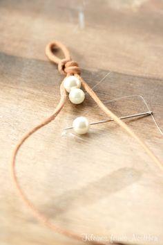 kleines feines nestchen: DIY Lederperlenarmband