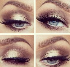 brown and gold smokey for blue eyes