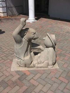 Book: Uncle Remus, His Songs and Saying  -  Location: Morgan County Public Library, Madison, GA  -  Sculptor: Julian Hoke Harris