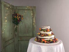 Fall naked Wedding cake