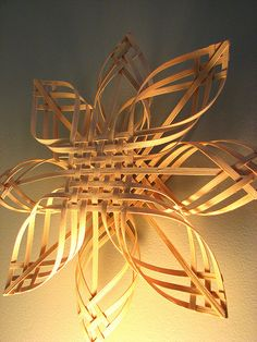 Woven Star, made of willow.