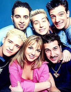 Brit brit With the boys of *NSYNC.. I secretly always hoped she'd get back together with Justin!!!!
