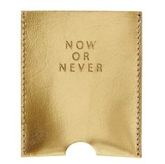 Kaarthouder Now or Never*