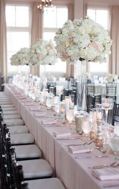 Featured Photographer: Sarah Kate Photography; Wedding reception centerpiece idea.