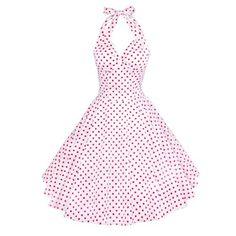Fashion Bug Vintage Womens 1950s dots Rockabilly www.fashionbug.us #PlusSize #FashionBug #Vintage #Rockabilly #PinUp
