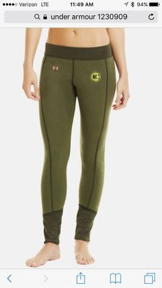 51778bedcc8a Under armour hunt gear cold scent control base layer leggings MSRP  75 NEW.  Green LeggingsTight LeggingsWomens ...