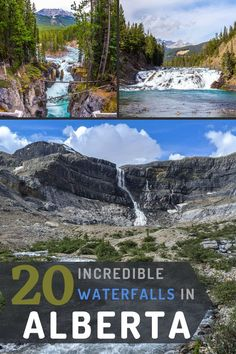 Here are 20 incredible waterfalls to visit while you're travelling in Alberta. Some of them require some hiking, but others are very accessible from the parking lot. Don't miss these fantastic places! #travelcanada #travelalberta #roadtrip #travelblog #albertatravelguide #hiking #adventuretravel