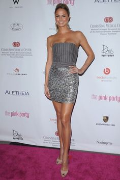 Stacy Keibler Photos - The Annual Pink Party.September - The Annual Pink Party Elie Saab, Silver Grey Dress, Stacy Keibler, Pink Parties, Beautiful Legs, Beautiful Women, Trends, Hot Outfits, Beautiful Actresses