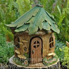 Fairy Homes and Gardens - Woodland Knoll Forest House, $33.59 (http://www.fairyhomesandgardens.com/woodland-knoll-forest-house/)