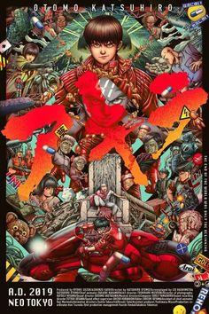 Akira by Ise Ananphada Akira Poster, Akira Anime, Katsuhiro Otomo, Arte Cyberpunk, Murals Street Art, Movie Poster Art, Film Posters, Movie Covers, Art Day