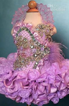 2013 Halter Cupcake Little Girl Pageant Birthday Party Lace Dresses Feather+Free Hair Bow Beauty Pageant Dresses, Pagent Dresses, Little Girl Pageant Dresses, Pageant Wear, Pageant Girls, Flower Girl Dresses, Lace Dresses, Toddler Pageant, Toddler Dress