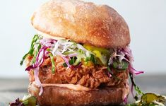 Fried Chicken Sandwiches with Slaw & Spicy Mayo