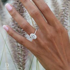 "Jean Dousset on Instagram: ""Nature's beauty just stepped up her game. FRANCESCA Two-Tone design flaunts Platinum prongs and an 18K Rose Gold band. Featuring a 4 Carat…"""