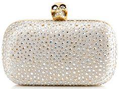 Alexander McQueen Crystal Embellished Clutch