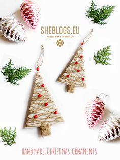 Φτιάξε Χριστουγεννιάτικα δεντράκια με Fleece και σπάγκο - Handmade Christmas Trees