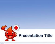 Free Blood Powerpoint Template Background For Diabetes Ppt