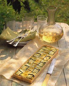 Summer Squash Lattice Tart - I think I just want to make this cause it's beautiful!
