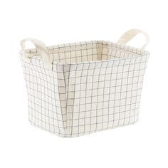 Canvas Quilted Bins | The Container Store