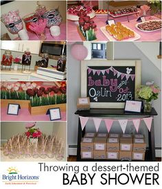 Throwing a Baby Shower: Dessert Theme