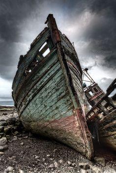 Abandoned Boats. Salen. Isle of Mull. Inner Hebrides. Scotland.